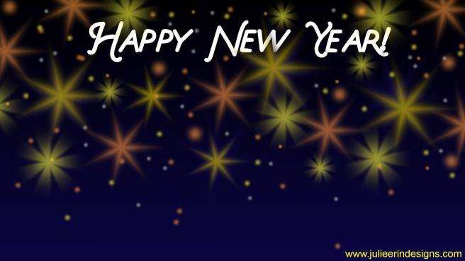 happy new year fireworks virtual background
