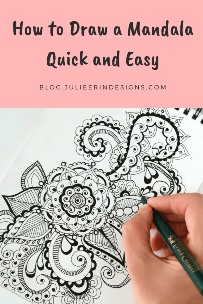 how to draw mandala quick easy
