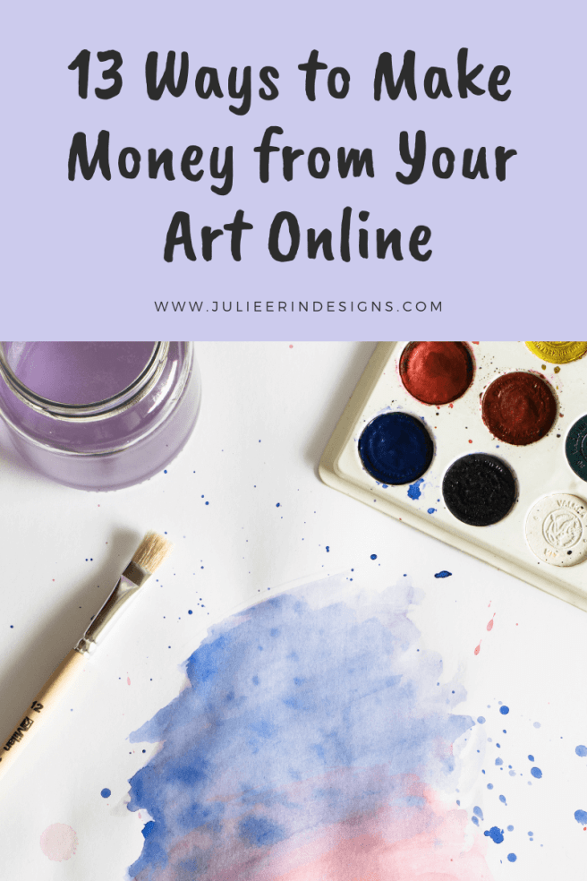 13 ways to make money online from your art