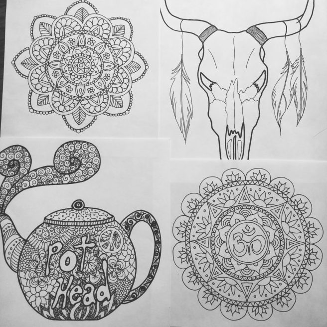 sketches black and white