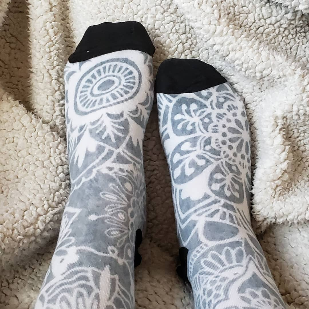 elegant mandala pattern socks