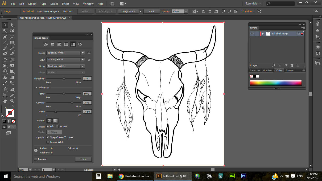 Cleaning up Line Art using Photoshop and Illustrator - Julie