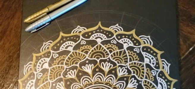 mandala sketchbook youtube video