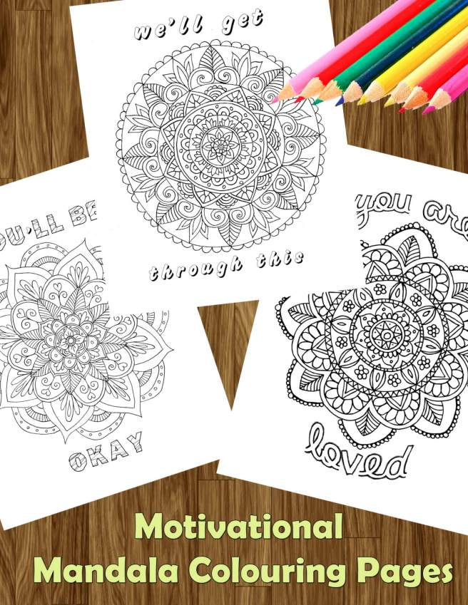 motivational mandala free colouring pages