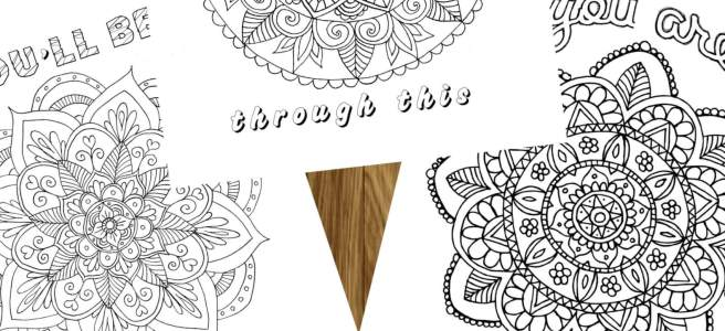 motivational mandala colouring pages