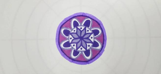 mandala drawing template