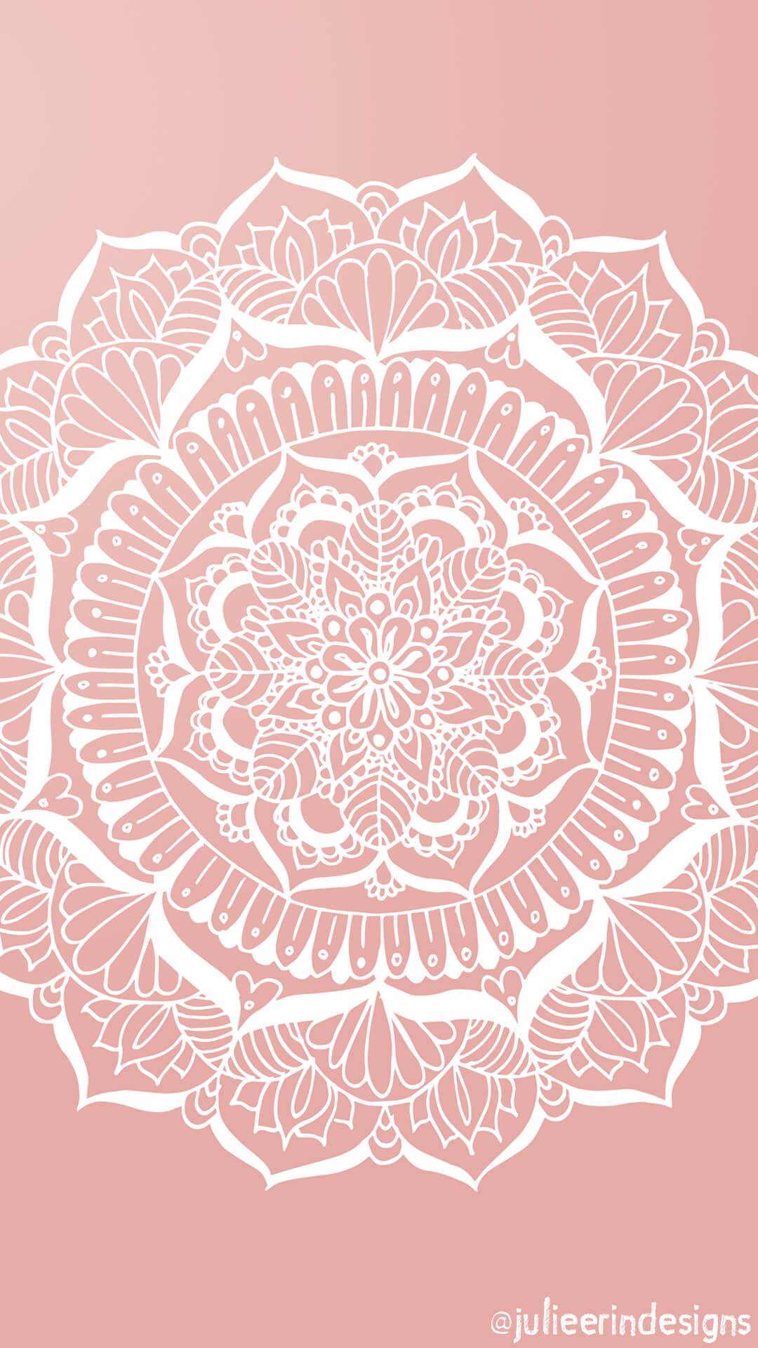 Rose Gold Mandala Iphone Background Julie Erin Designs