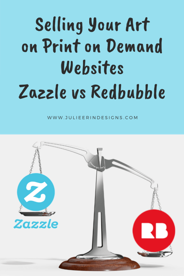 zazzle vs redbubble for selling art online