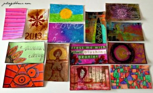 index card a day art collection