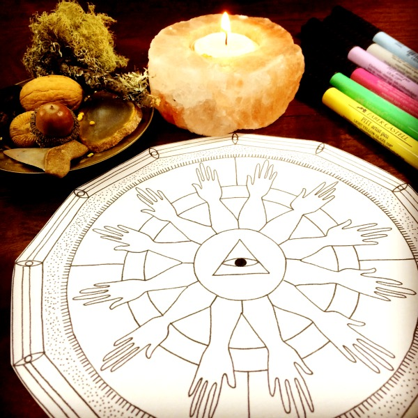 mandala colouring in template