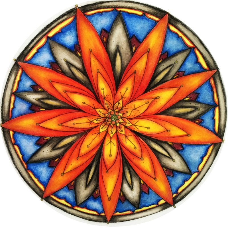 Petalled Flower Mandala image