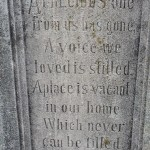 Wistful, lovely inscription