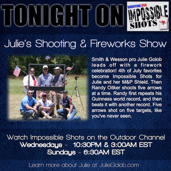 Julie Golob Shooting Fireworks on Impossible Shots