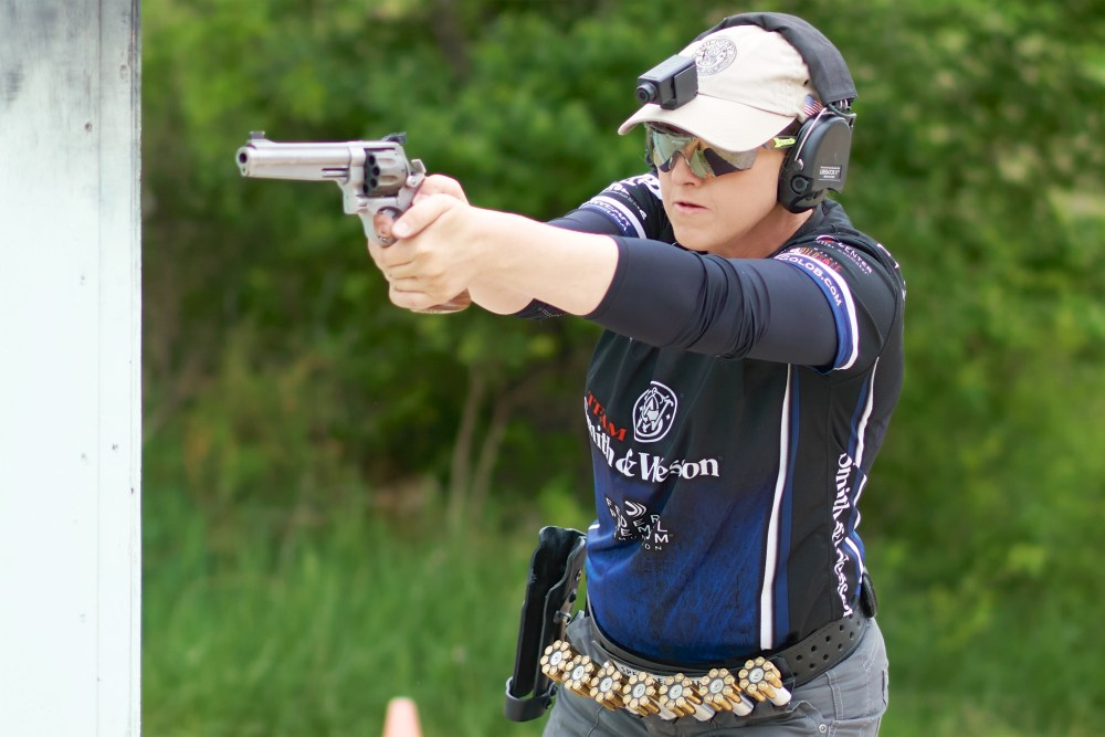 Julie Golob - 2016 USPSA Ladies Revolver & Classic National Aggregate Champion. Photo Courtesy of Paul Hyland of LiveShots.net