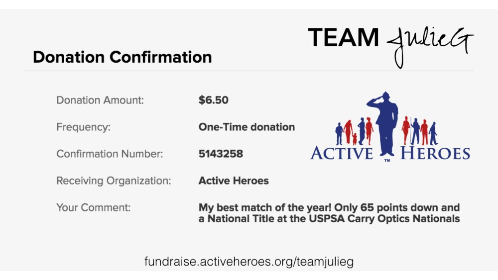 Join me in supporting Active Heroes #AimingForZero