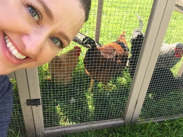 Julie gets her chickens!