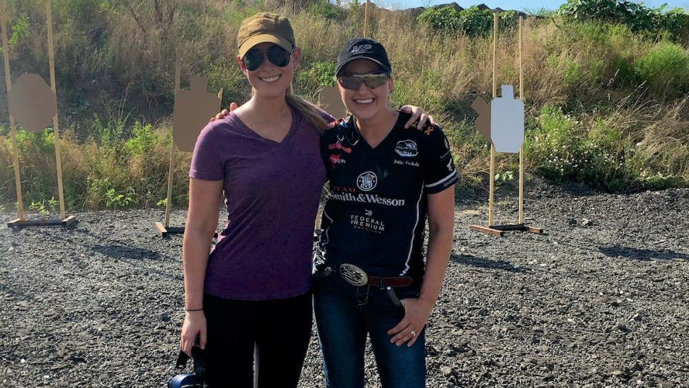 Natalie learns from lead trainer Julie Golob for Love at First Shot