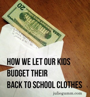 How We Let Our Kids Budget Their Back to School Clothes