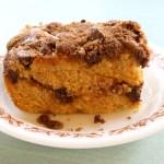 Pumpkin Spice Coffee Cake with Cinnamon Streusel Topping (gluten-free + vegan)