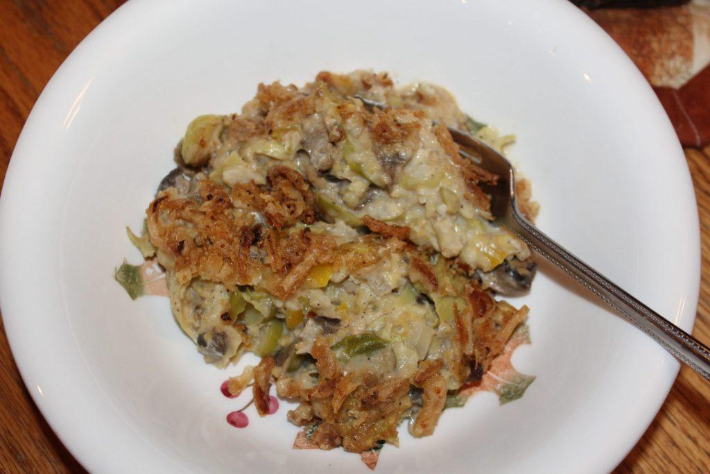 small bowl Veggie Bean Alfredo Casserole