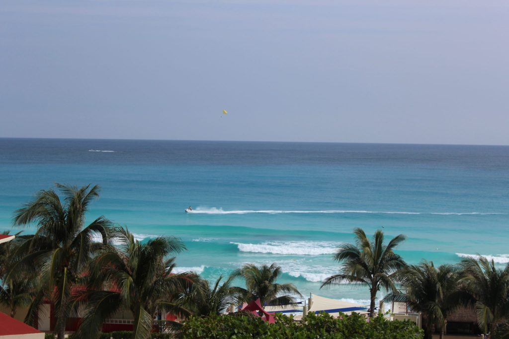 Ocean view from all-inclusive resort.