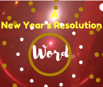 A New Year's Resolution Word
