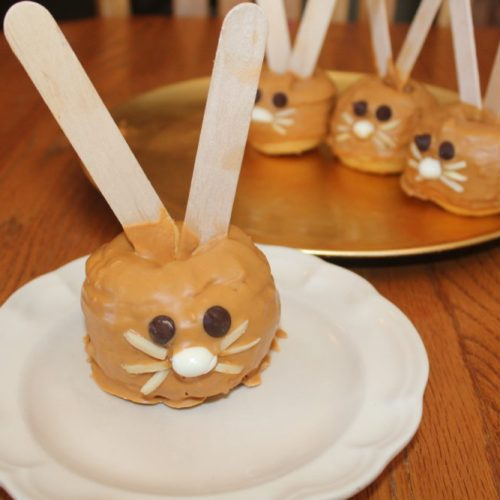 Peanut Butter Butterscotched Apple Bunnies