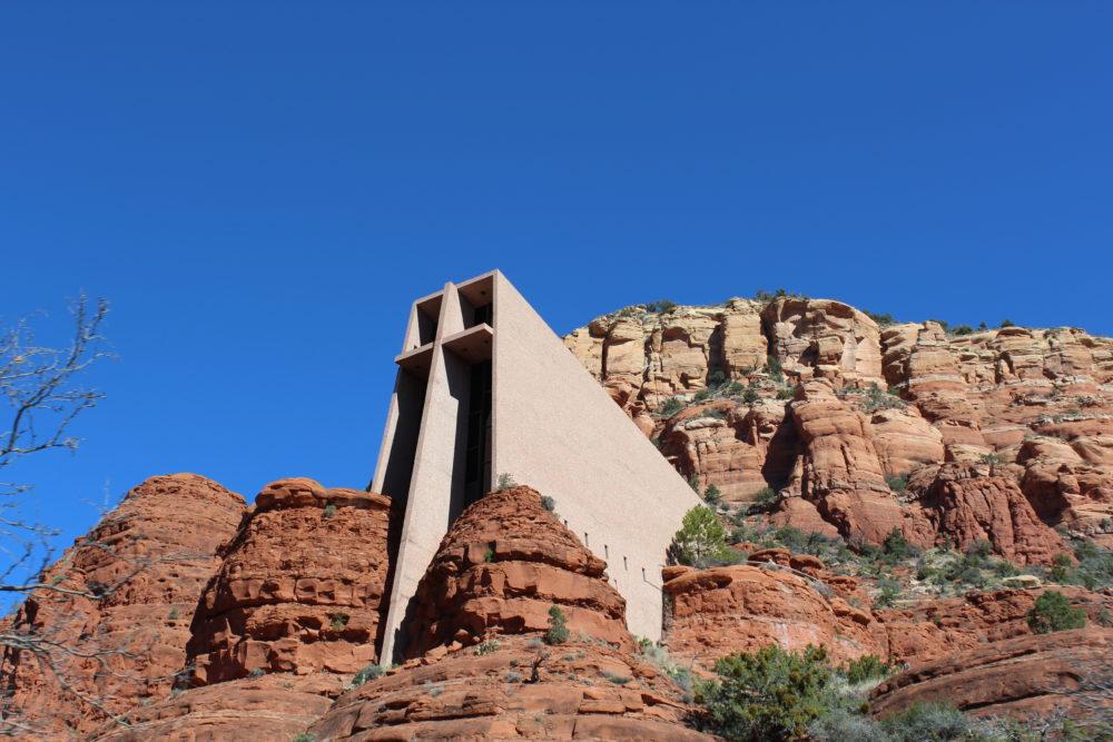 Chapel of the Holy Cross Church on a rock Sedona Arizona