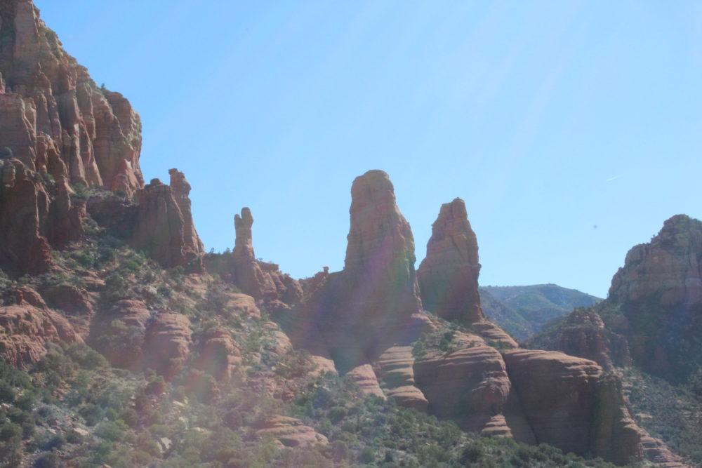 Mary, Baby Jesus, 2 nuns rock formation Sedona Arizona