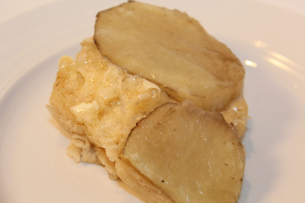 Buttered biscuit and potato
