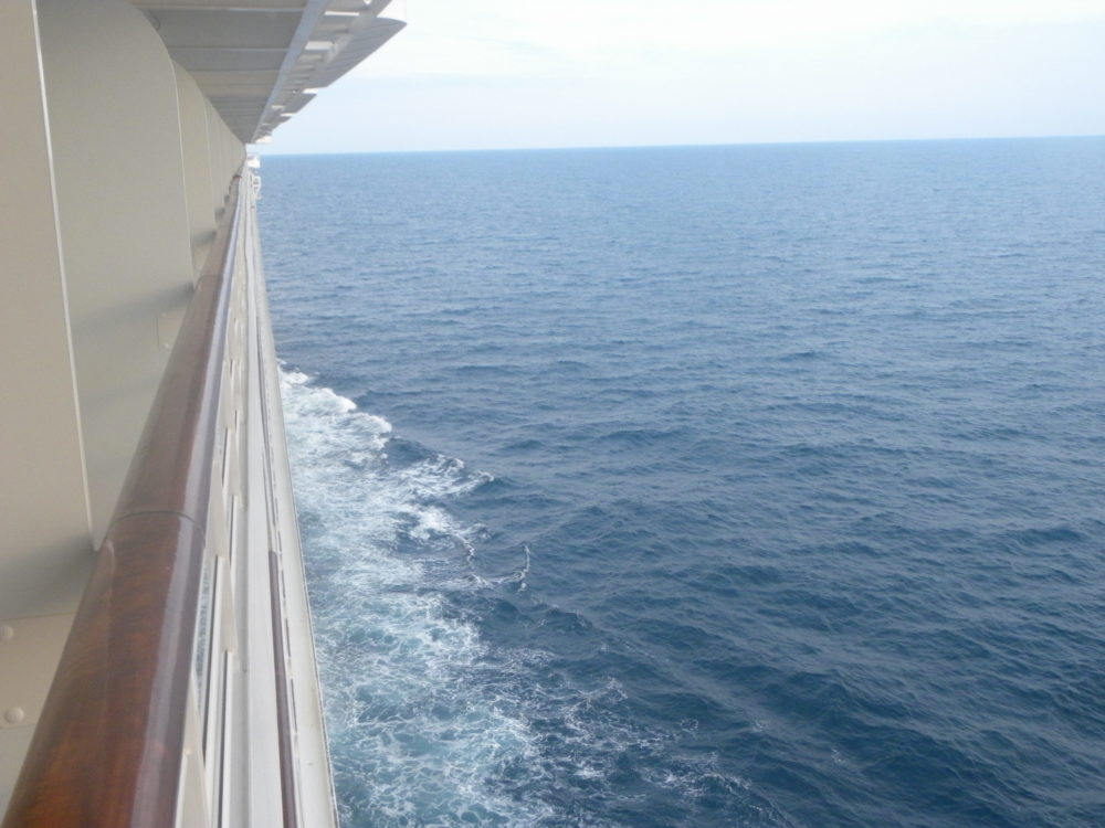 View from cruise ship