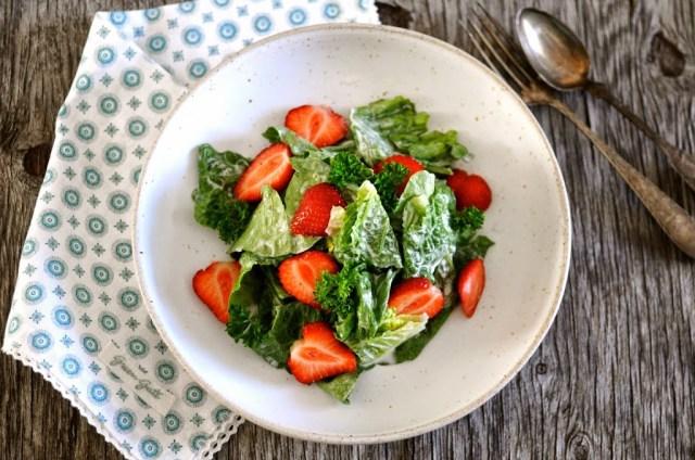salat med mormordressing
