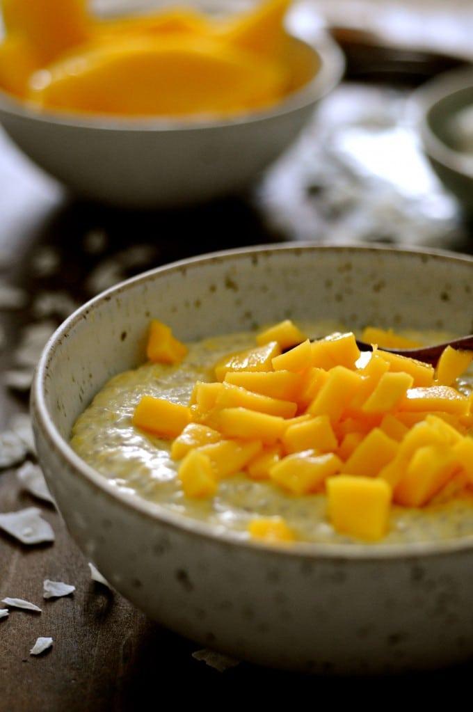 Chiagrød med mango  www.juliekarla.dk
