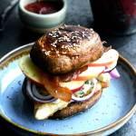 Portobello burger med kylling | www.juliekarla.dk