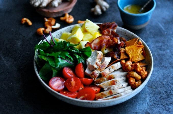 Salat med kylling og bacon | www.juliekarla.dk