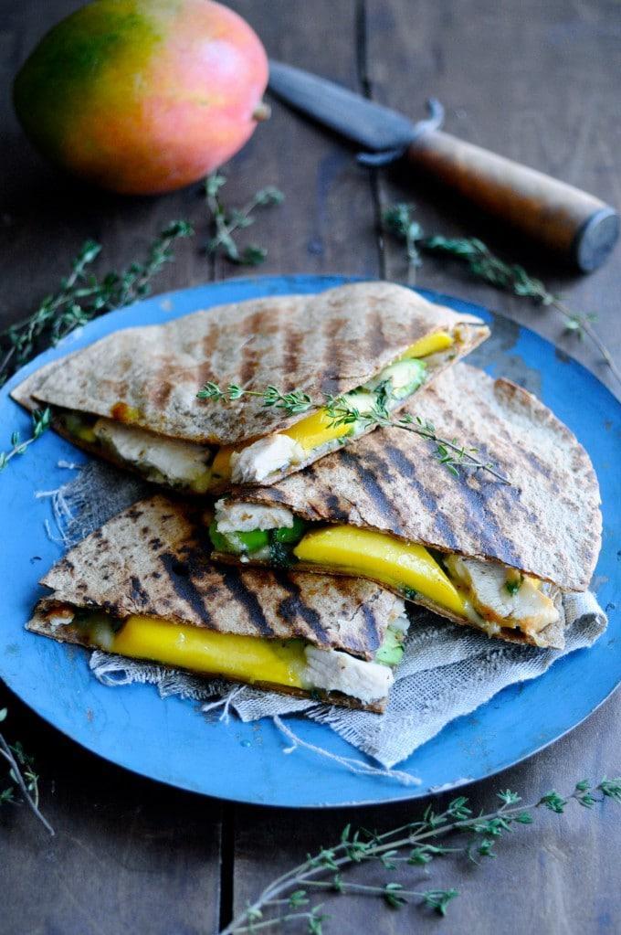 quesadilla med kylling og mango | www.juliekarla.dk