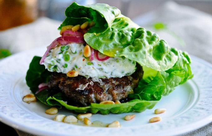 Sund burger opskrift med lammekød   www.juliekarla.dk