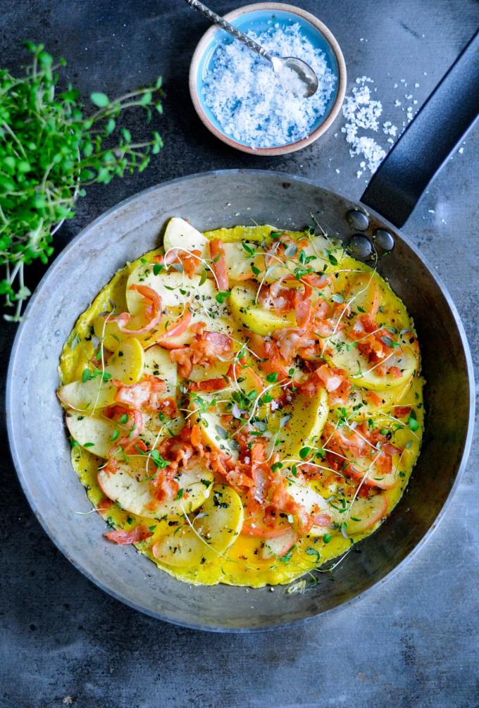 Omelet med bacon | www.juliekarla.dk