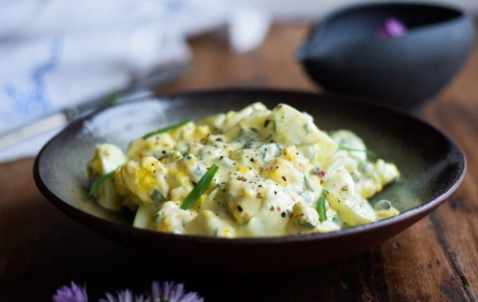 Luksus æggesalat med estragon og kapers
