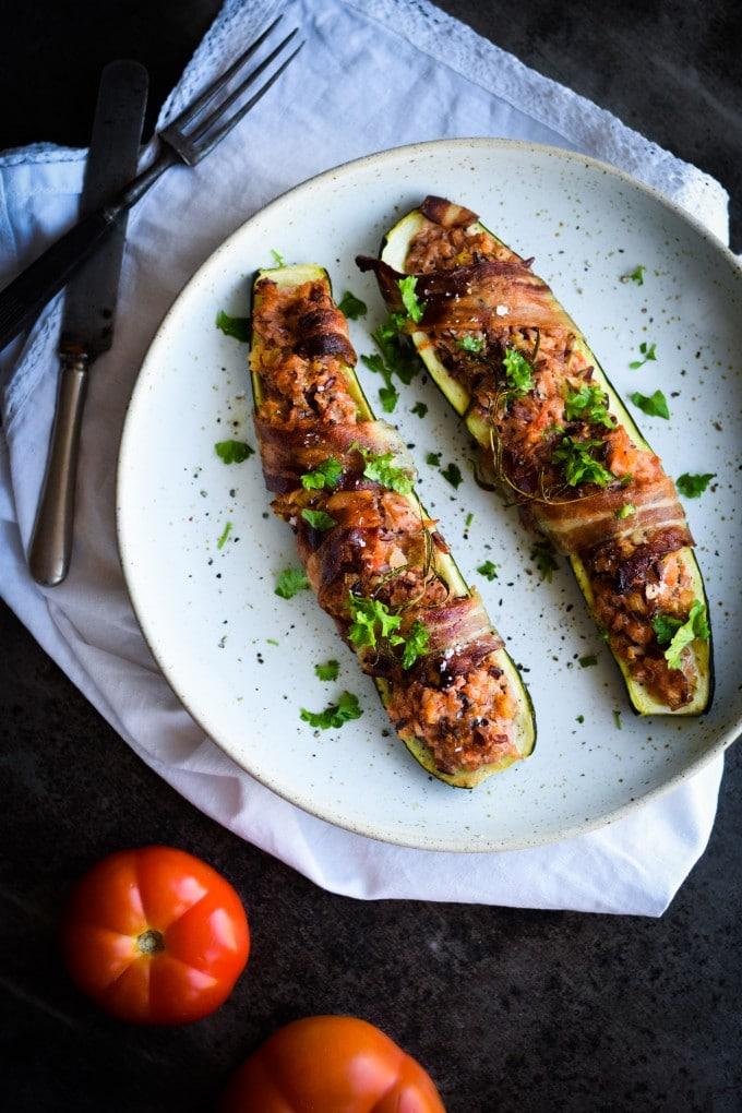 Fyldte squash med kød