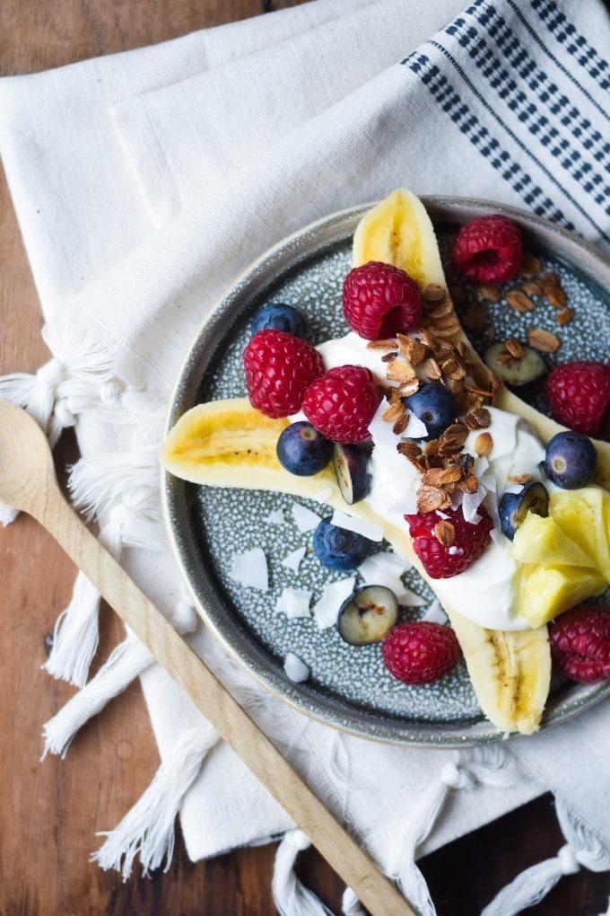 sund banana split yoghurt