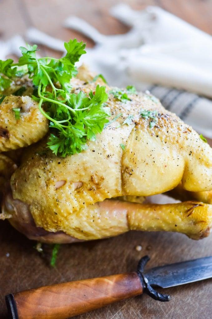 gammeldags kylling med persille