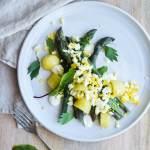 salat med asparges og kartofler