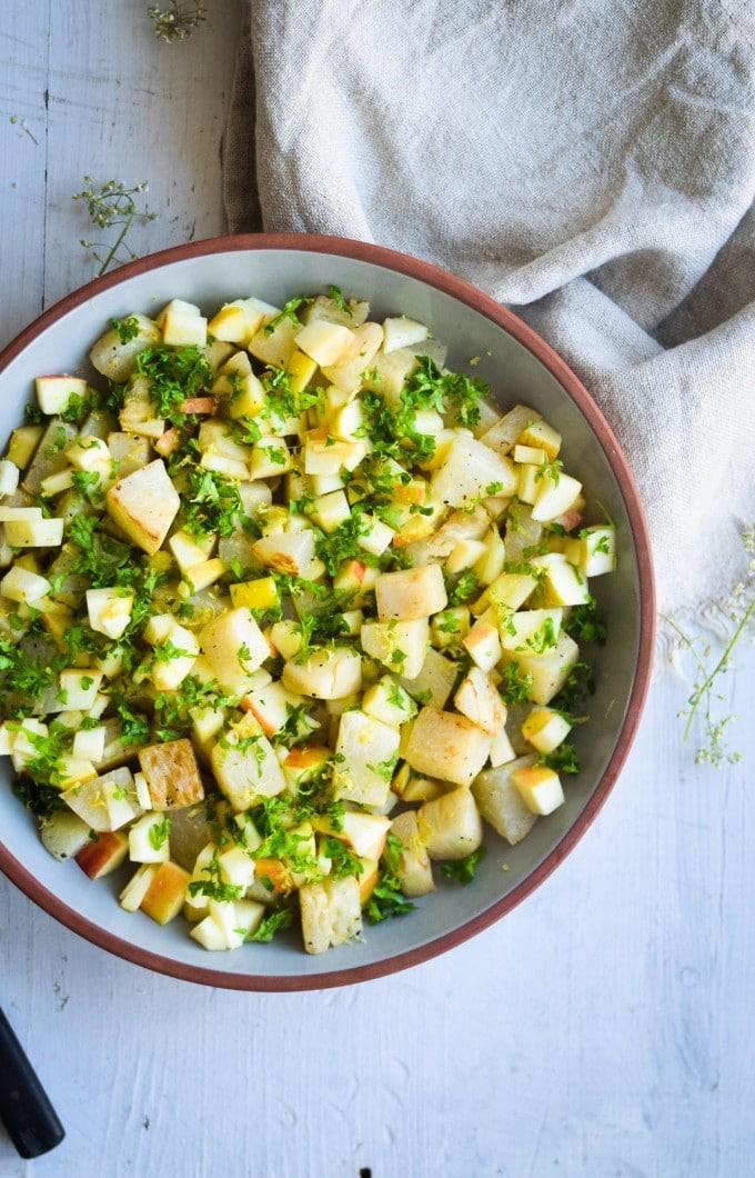 glaskål salat opskrift til fire personer