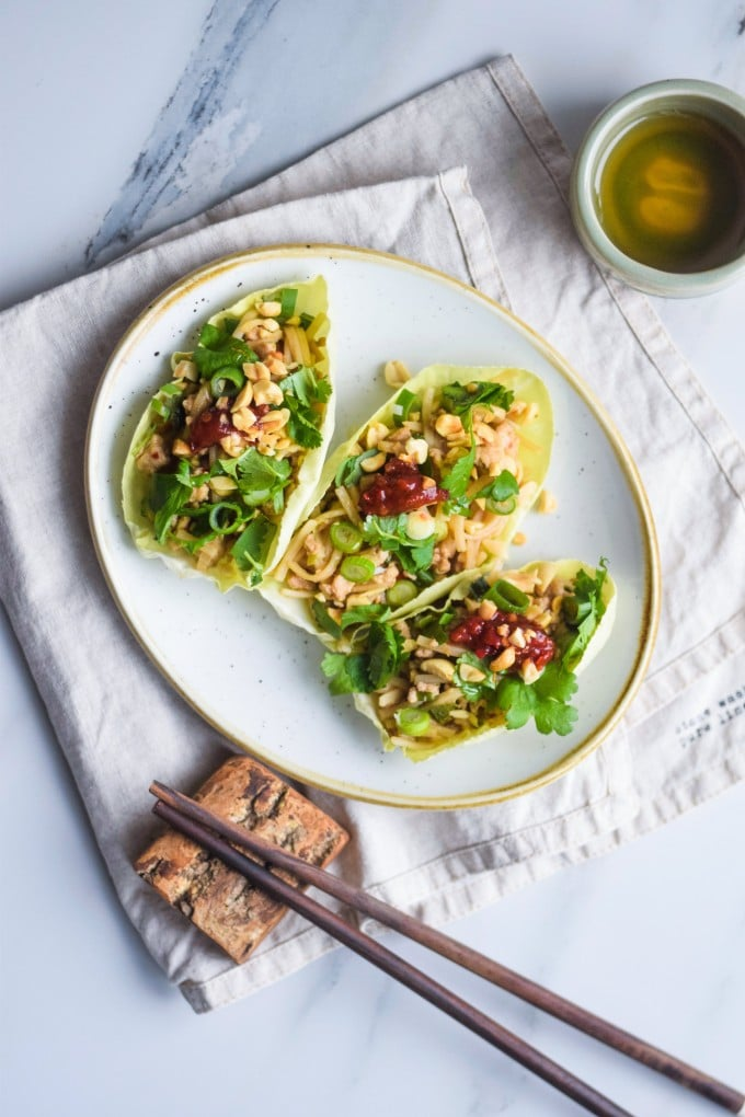 low carb wraps med kylling