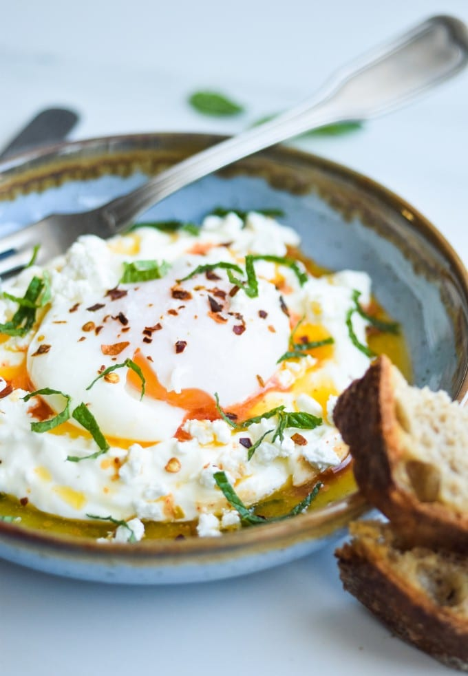 Opskrift på turkish eggs
