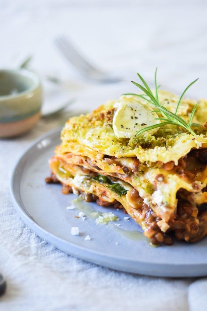 vegetar lasagne opskrift