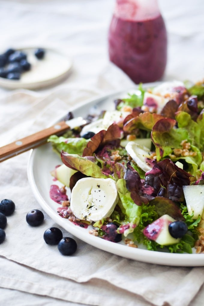 den bedste salat med blåbær opskrift