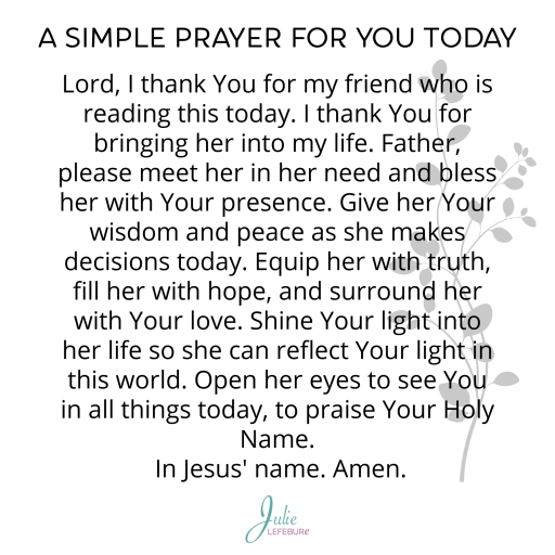 A Simple Prayer For You Today