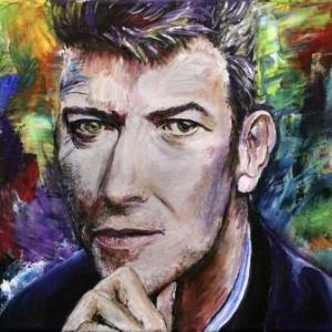 A Painting for David Bowie   Oil on Canvas by Julie Lovelock